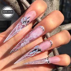 Ways to create beautiful acrylic nails with 60 Nails Arts - Ankara Lovers Beautiful Nail Designs, Beautiful Nail Art, Gorgeous Nails, Pretty Nails, Dope Nails, Swag Nails, Pink Glitter Nails, Bling Nails, Escape