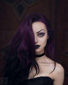 dark purple hair 4