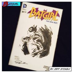 Yesterday I got this cool Batgirl sketch by Jeff Stokely at the Spire signing at @thecomicbug in Manhattan Beach!  #jeffstokely #stokely #comicbug #thecomicbug #batgirl #dccomics #sketch #sketchcover #blank #blankcover #blankvariant #babstarr #collecting #collect #collection #art #signing #signature