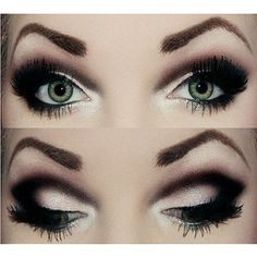 Black and White is the trend in makeup so the eyes have it!