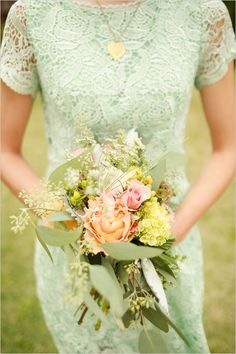 mint green bridemaid dress