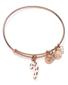 Alex and Ani Candy Cane Expandable Wire Bangle, Charity by Design Collection