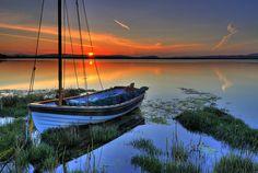 Photo Art - Sailboat Photography - Sunset Photography - Outdoor Photography - Sunset from Lopez Island - 12 X 18 - prints on Etsy, $40.00