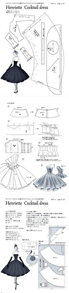 Henriette Cocktail Dress Pattern