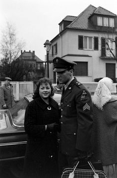 Sgt. Elvis Presley leaves the house he and his family occupied in Bad Nauheim, Germany, March 1960.