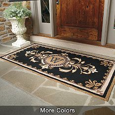 Huntington Monogrammed Entry Mat Traditional Doormats Front