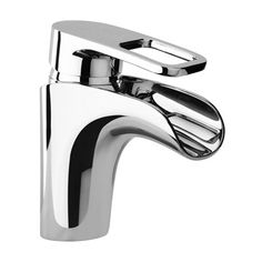 Jewel Faucets 10212 J10 Bath Series Single Loop Handle Lavatory Faucet with Waterfall Spout