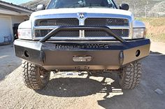 #! Iron Cross Automotive 22-615-97 Heavy Duty Front Bumper with Push Bar for 1997 to 2001 Dodge Ram 1500/2500/3500
