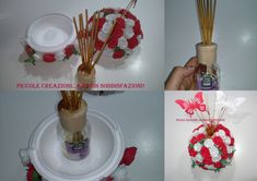 Sfera di rose porta diffusore di profumo Diy Flowers, Projects To Try, Shabby Chic, Rose, Diy Crafts, Party, Handmade, Gifts, Big Shot