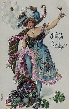 Champagne lady 1909 by mpt.1607, via Flickr