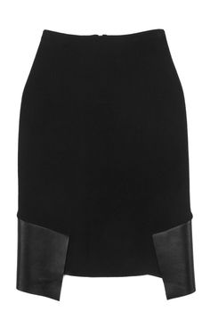 Knit Leather Skirt by Dion Lee