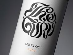 Beautiful type for what is hopefully and equally beautiful bottle of red. Might just have to try it!