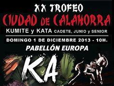 """#Calahorra, celebrará este próximo domingo, 1 de diciembre el """"XX Trofeo Ciudad de Calahorra Kumite y Kata"""" #Kárate"""
