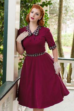 Dieses 40s Ella Swing Dress ist in Zusammenarbeit mit der hinreißenden…