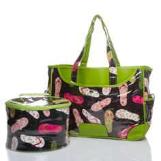 Colorful flip-flop printed bags to pack a snack or lunch.