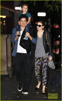 Miranda Kerr and Orlando Bloom head out for a night on the town with their son Flynn on October 7, 2013