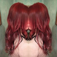 • do you want to become a sexybomb? 🍒💔💋•  #red #haircolor #redhair #cherry  #redpassion #hairstyle #hair #hairdo #hair #longhair