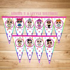 NEW! LOL Surprise Doll Happy Birthday Party Banner - Bunting Pendant - Series 1 & 2 - Little Sisters, too! by MileHiPartySupplies on Etsy