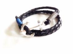 Silver Mens Bracelet Mens wrap bracelet Black Braided Leather bracelet leather cuff Bohemian Wristband leather men's bracelet mens jewelry