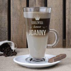 Grawerowana szklanka do latte DLA MAMY idealny na urodziny