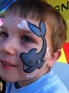 Shark - CHEEKY FACES FACE PAINTING - Brisbane & Gold Coast