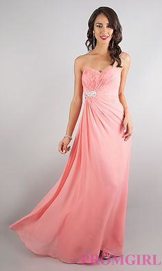 Strapless Sweetheart Floor Length Dress at PromGirl.com