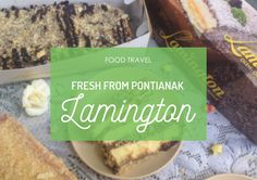 """Trying out a """"special"""" souvenir from Pontianak: Lamington! #FoodTravel #Food #Foodie #Kuliner #FoodBlogger #Culinary #Dessert #Cake"""