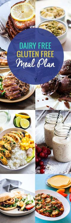 These recipes look really good! -AL Dairy Free, Gluten Free Meal Plan Recipes…