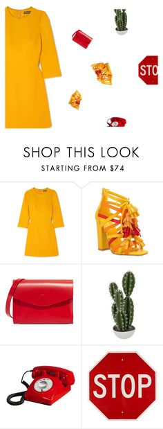 """throw away your television now"" by loasanchez ❤ liked on Polyvore featuring Dolce&Gabbana, Privileged, VereVerto, Abigail Ahern and Retrò"