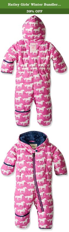 Hatley Girls' Winter Bundler, Fairy Tale Horses, 18-24M. Brave the coldest of winters with Hatley cozy, warm and adorable baby bundlers, complete with fold over mitts and booties.