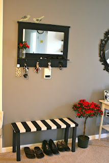 Two Part Blog Post With Tutorials For An Apartment Friendly Diy Mudroom Our Apartment Entrywayapartment Ideasdiy