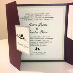 Square+Wedding+Invitation++Square+Pocket+by+WhiteTieDesigns,+$8.00