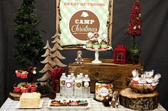 Christmas Theme Camping Party