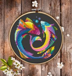 This is modern cross-stitch pattern of Pisces Zodiac for instant download. You will get 7-pages PDF file, which includes: - main picture for your reference; - colorful scheme for cross-stitch; - list of DMC thread colors (instruction and key section); - list of calculated thread