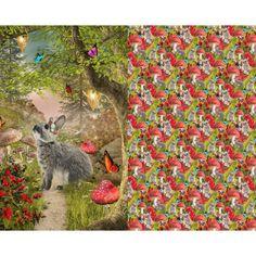 Stoff Tiermotive - Jersey, Panel, Hase, Schmetterling, Digitaldruck - ein Designerstück von ABC-Designerin bei DaWanda