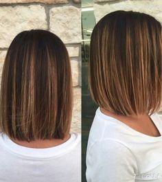 9 Simple Blunt Bob Hairstyles for Medium Hair - 1