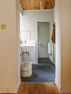 Wood floor against tile floor Design Trends: Go Smooth and Modern with Matte Finishes | Fireclay Tile