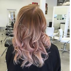 Beige rose gold sombre. | Modern Salon