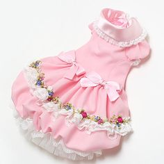 Maltese clothes - pink dress