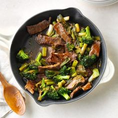 Saucy Beef with Broccoli Beef With Broccoli Recipe, Broccoli Stir Fry, Broccoli Beef, Broccoli Recipes, Vegetable Recipes, Stir Fry Dishes, Beef Dishes, Food Dishes, Main Dishes