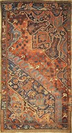 Jul 2018 - Rare Antique Sampler Oushak from Century. A piece of genuine authentic woven carpet art sold by Santa Barbara Design Center, Rugs and More. Diy Carpet, Magic Carpet, Modern Carpet, Rugs On Carpet, Carpet Ideas, Carpets, Persian Carpet, Persian Rug, Iranian Rugs