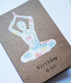 Handmade Elegant Birthday Girl Yoga Greeting Card By Kibbiecards 295 Cards For Friends
