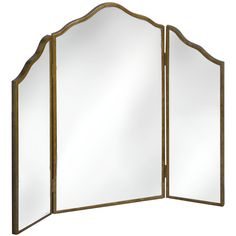 Three Way Brass Mirror   Modern floor mirrors, Brass mirror and ...