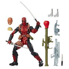SAME DAY SHIPPING AND 3 DAYS DELIVERY -- FROM NJ USA - ORIGINAL (NO CHINA REPLICA)....    Comic-inspired design    Collect other Marvel Legends Series figures (each sold separately)    Action figure size: 6 inches    Includes figure and 11 accessories        Product Description        Combined with impressive agility and stamina, Deadpool's powers of self-healing make him nearly unstoppable in a fight.        With the Marvel Legends Series, both kid and adult Marvel fans can start a…
