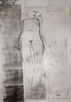 NUDE No. 2721/ Michael Lentz, Germany/ Printmaking, 	Monotype