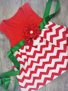 Girls Red Chevron Print Dress With Attached by AdalynsBoutique Christmas Dresses For Tweens, Toddler Christmas Dress, Girls Christmas Dresses, Holiday Outfits, Girls Party Dress, Girls Dresses, Chevron Print Dresses, Red Chevron, Girly