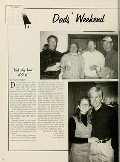 """Athena yearbook, 1995. """"Dad's Weekend"""" """"Dads play hard at OU."""" :: Ohio University Archives"""