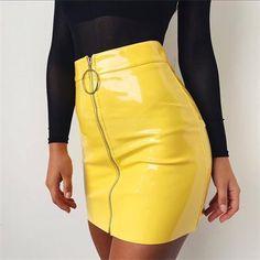 bf002f9afd 2018 Newest Arrivals Fashion Hot Women Solid Mini Skirt Female Whiteliilgal