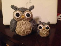 In honor of Mother's Day, amigurumi mom & baby owl. Designed and crocheted by me 💕