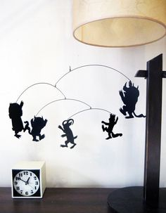 Where the wild things are mobile.-- I would like to try this with some of the Cricut carts for characters on those!